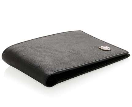 Бумажник Swiss Peak с защитой от сканирования RFID, 6 отделений, 12 карт, цвет чёрный