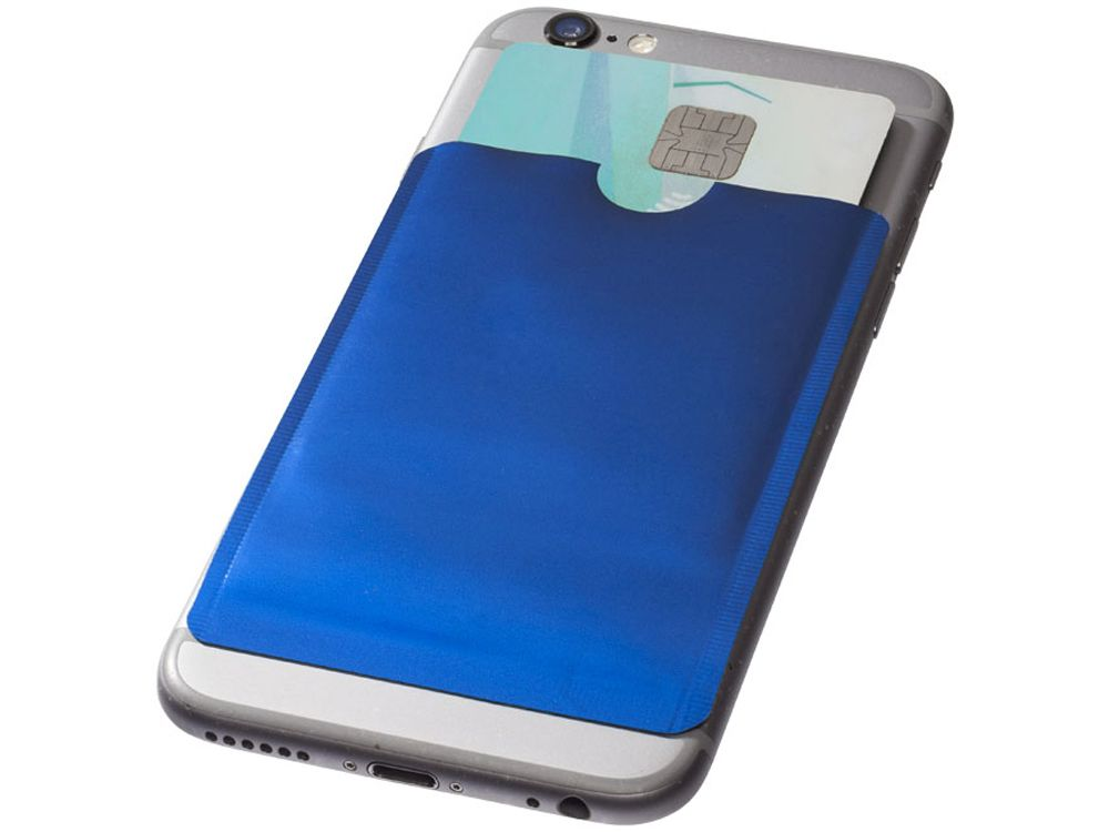 Бумажник для карт с защитой от сканирования (RFID), для смартфона, цвет синий