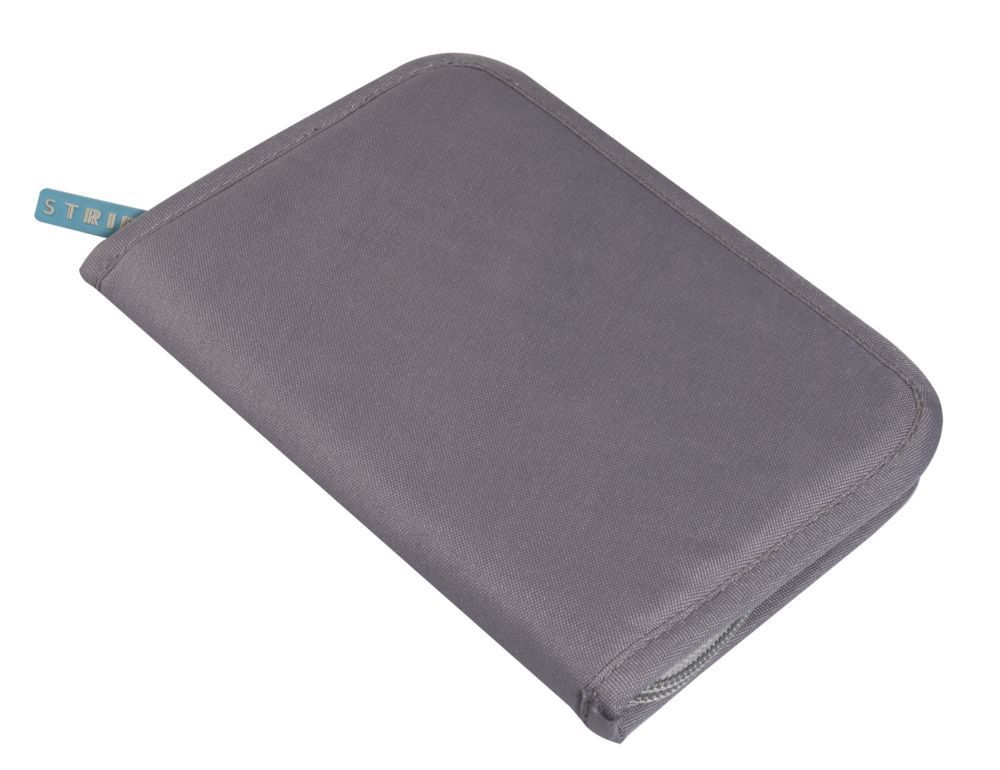 Органайзер для путешествий Prestwick, с защитой от сканирования (RFID), серый