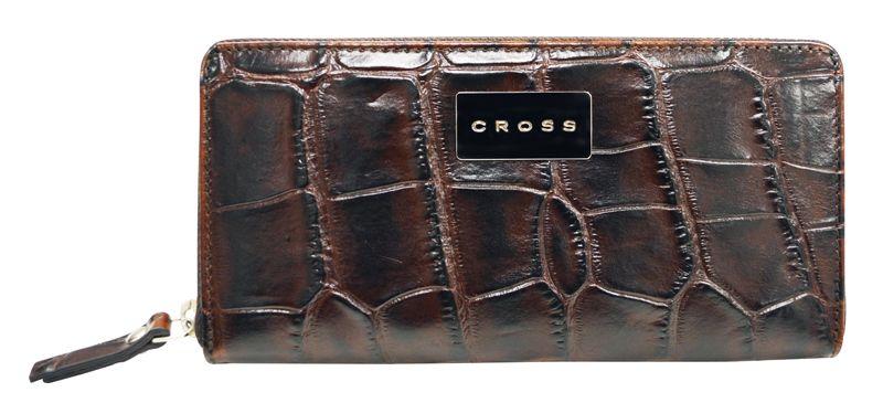 Кошелек Cross Coco Nicole, 19х10х1,8 см, цвет коричневый