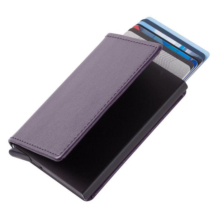 Футляр для кредитных карт Stroll с защитой от сканирования (RFID), фиолетовый