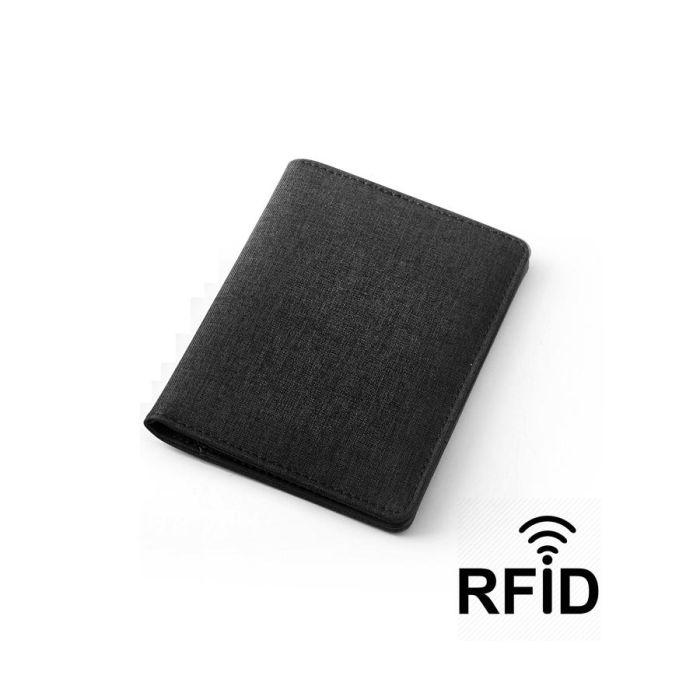 Обложка для паспорта и кредиток с RFID - защитой от считывания данных, цвет черный