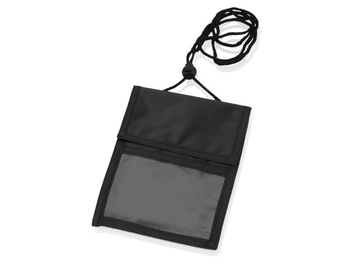 Дорожное нагрудное портмоне со шнурком