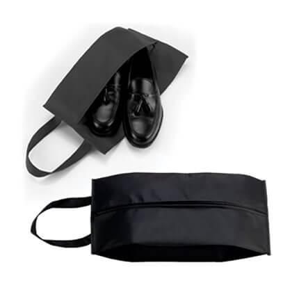 """Футляр для обуви на молнии """"HAPPY TRAVEL"""", цвет чёрный"""