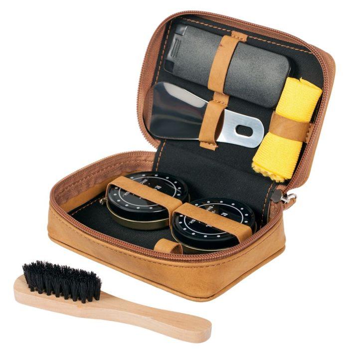 Набор для чистки обуви Tidy, коричневый