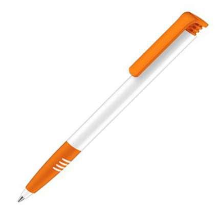 Ручка шариковая Senator, модель Super Hit Polished Basic SG (2956), цвет оранжевый / белый