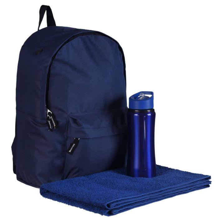 Набор Active: рюкзак, спортивная бутылка и полотенце, цвет синий