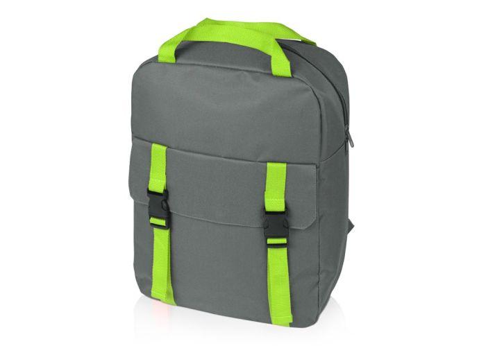 """Рюкзак """"Lock"""" с отделением для ноутбука, цвет серый и зелёное яблоко"""