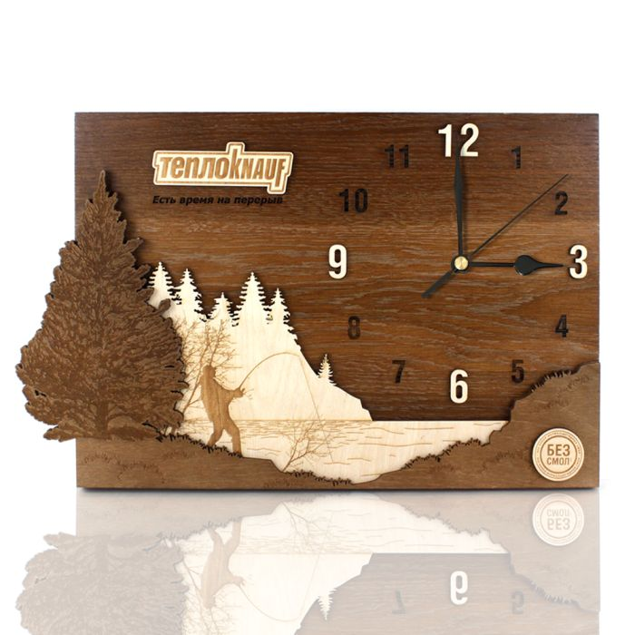 Часы деревянные многослойные DS151 без характеристик