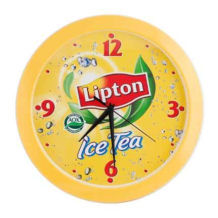 Часы настенные, модель 01, диаметр 290 мм, стекло минеральное, кольцо пластик, желтое