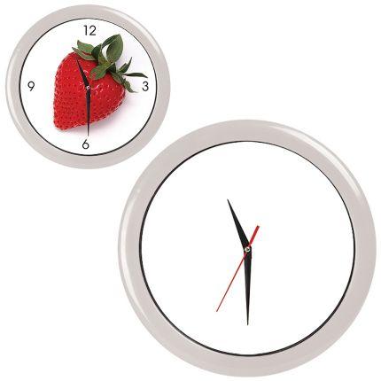 """Часы настенные """"ПРОМО"""" разборные, D=28,5 см, пластик/стекло, цвет обода белый"""