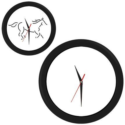 """Часы настенные """"ПРОМО"""" разборные, D=28,5 см, пластик/стекло, цвет обода черный"""