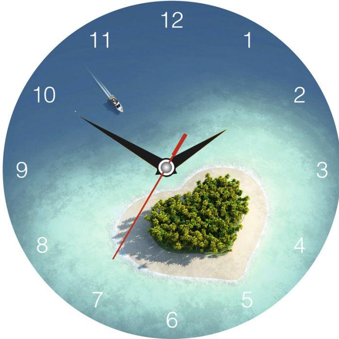 Часы настенные стеклянные с индивидуальным дизайном, круглые, диаметр 28 см