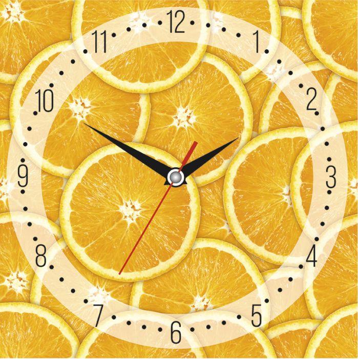 Часы настенные стеклянные с индивидуальным дизайном, квадратные, размер 28х28 см