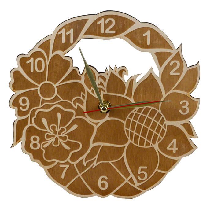 """Набор для раскрашивания: часы настенные """"Корзина с цветами"""", вариант 2"""