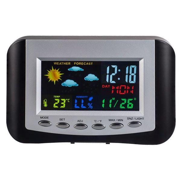 """Perfeo Часы-метеостанция """"Сolor"""", (PF-S3332CS) цветной экран, время, температура, влажность, дата"""