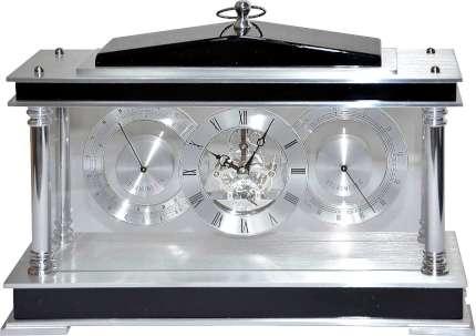 Часы настольные с механизмом скелетон, Linea del Tempo, (S2574B)
