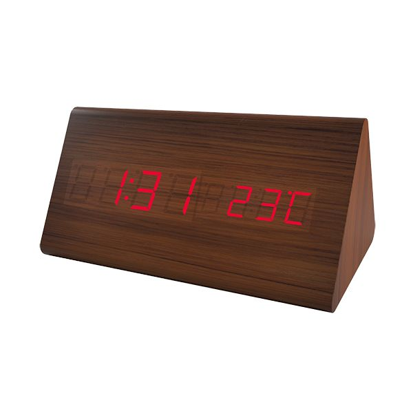 "Perfeo LED часы-будильник ""Pyramid"", PF-S710T время, температура (PF_A4397)"
