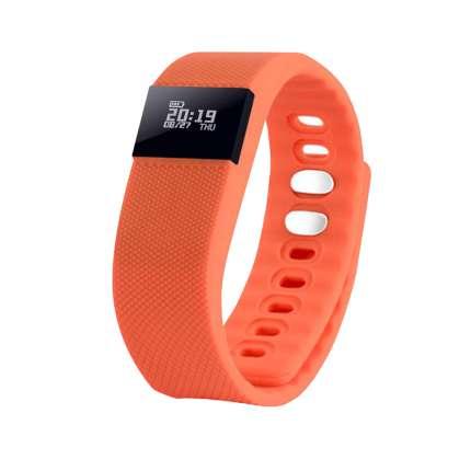 """Смарт браслет (""""умный браслет"""") Portobello Trend, The One, электронный дисплей, силиконовый, оранжевый"""