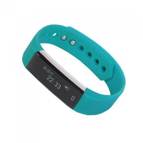 """Смарт браслет (""""умный браслет"""") Portobello Trend, Only, электронный дисплей, бирюзовый"""