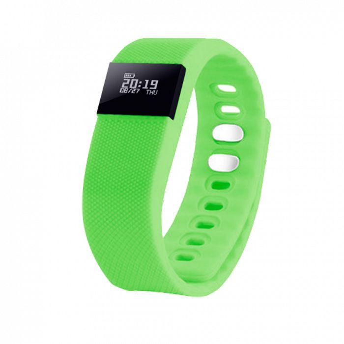 """Смарт браслет (""""умный браслет"""") Portobello Trend, The One, электронный дисплей, зелёный"""