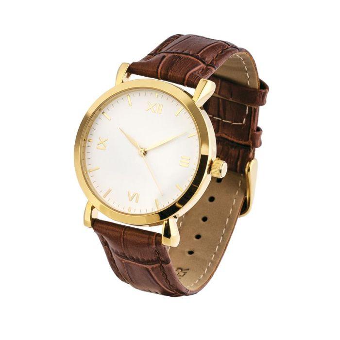 Часы наручные, цвет белый с золотом