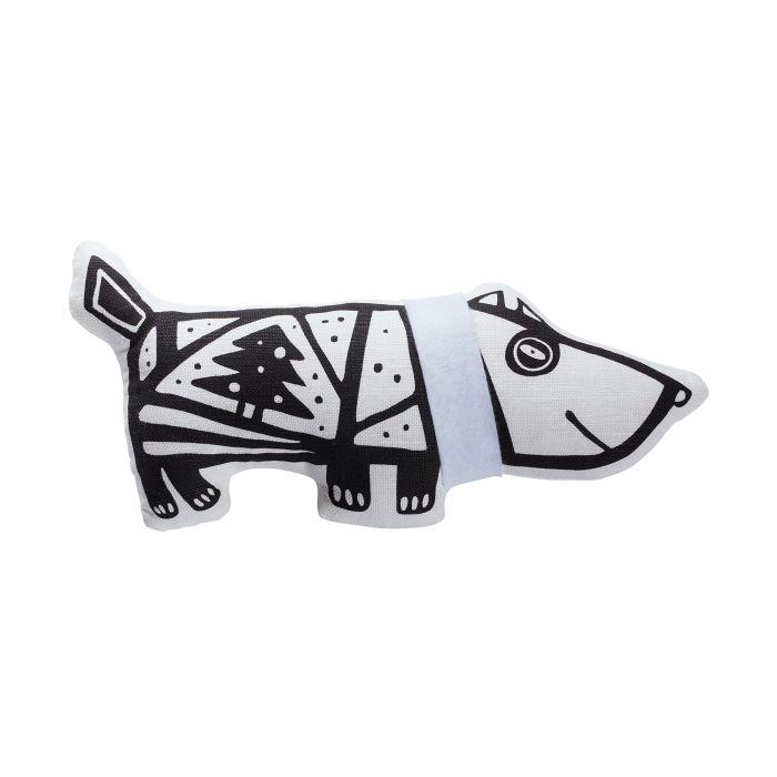 """Игрушка """"Собака в шарфе"""", малая, белая"""