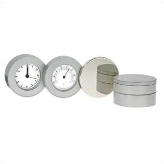 """Часы """"Orion I с термометром"""" (хромированные)"""