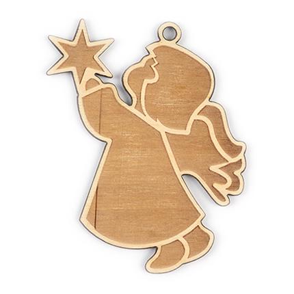 """Новогодняя игрушка из дерева """"Ангелочек"""""""