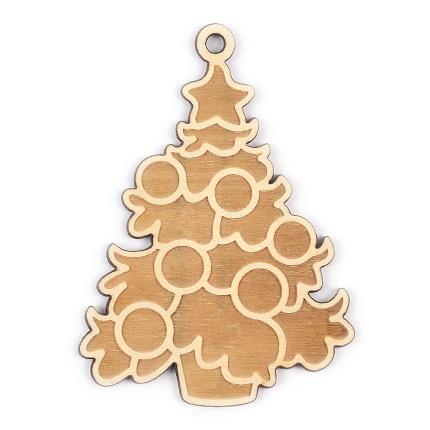 """Новогодняя игрушка из дерева """"Ёлочка"""""""