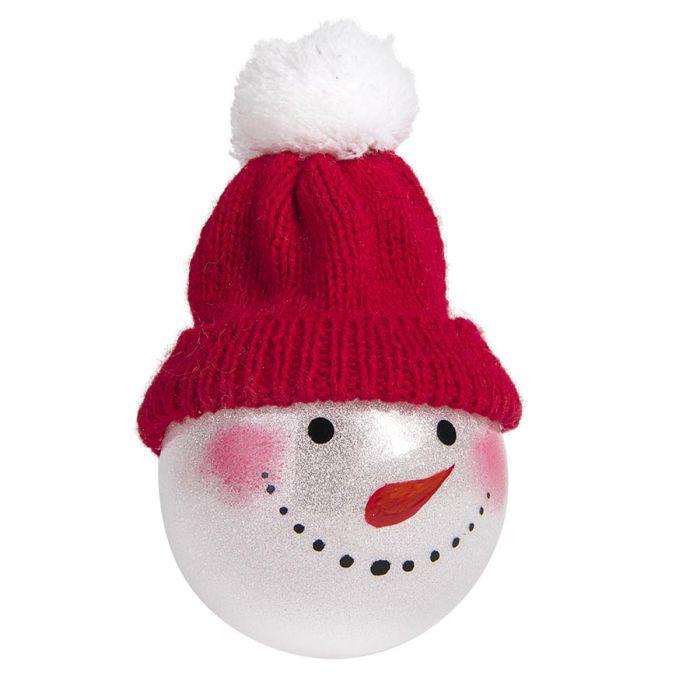 Шар новогодний SNOWMAN, диаметр 8 см