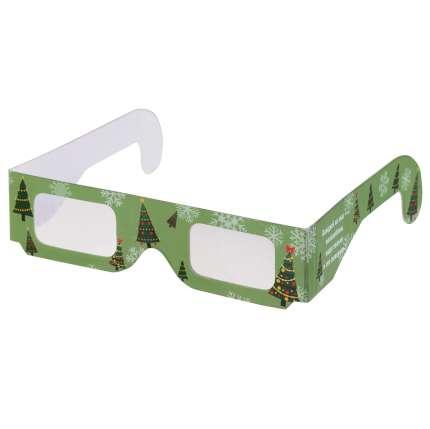 """Новогодние 3D очки """"Елочки"""", зелёные"""