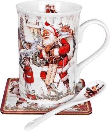 """Чайный набор """"Санта с санками"""""""
