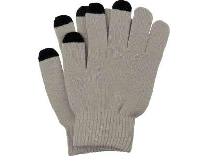 "Перчатки для сенсорного экрана ""Сет"", цвет серый, размер S/M"