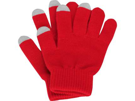 """Перчатки для сенсорного экрана """"Сет"""", цвет красный, размер S/M"""