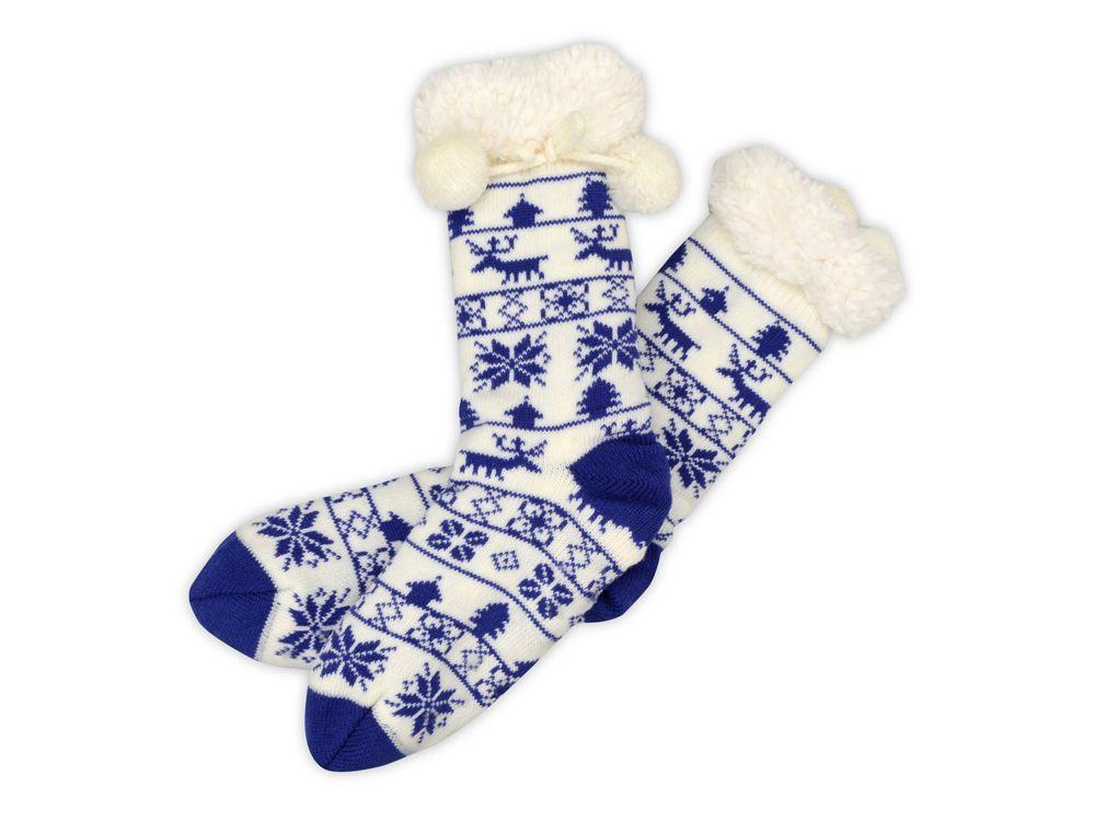 Домашние носки женские, синие