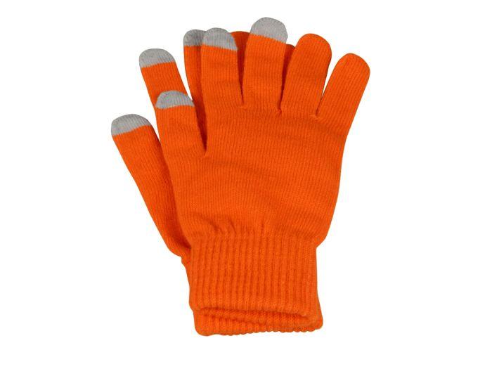 """Перчатки для сенсорного экрана """"Сет"""", цвет оранжевый, размер L/XL"""
