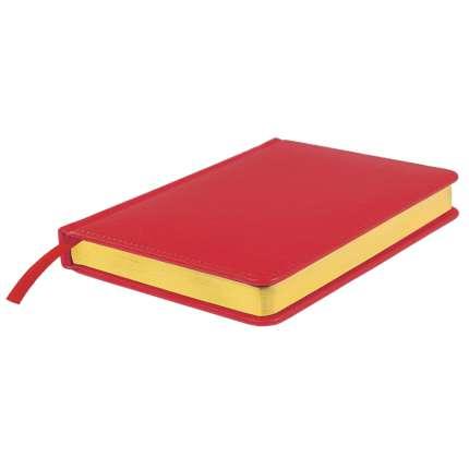 Ежедневник датированный Joy, А5, красный, белый блок, золотой обрез