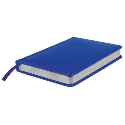 Ежедневник датированный Joy, А5, синий, белый блок, серебряный обрез