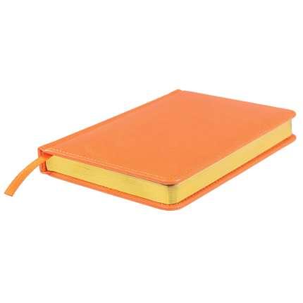 Ежедневник датированный Joy, А5, оранжевый, белый блок, золотой обрез