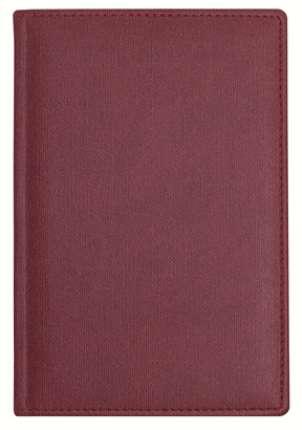 Ежедневник датированный, формат A5 (11.201-F340), Твид, цвет бордо, блок белый с вырубкой