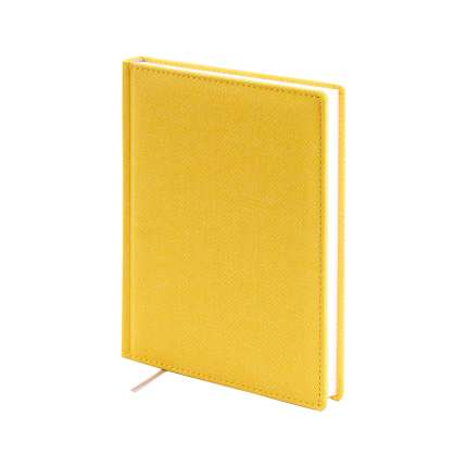 Ежедневник датированный, формат A5 (11.121-F332 ), Твид, цвет желтый, блок белый
