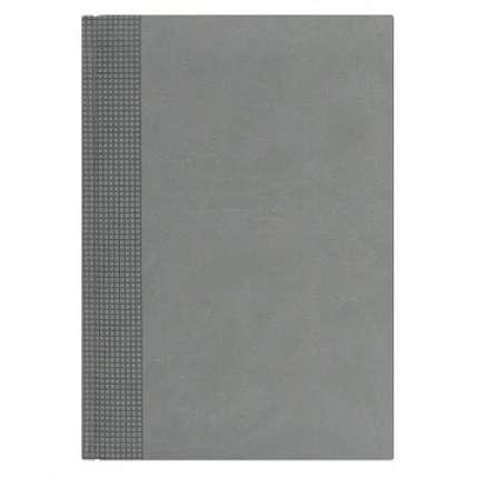 Ежедневник NG датированный VELVET 5450 (650), 145x205 мм, светло-серый, белый блок