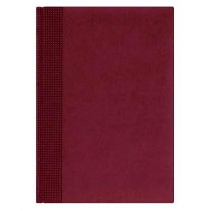 Ежедневник NG датированный VELVET 5450 (650), 145x205 мм, бордовый, белый блок