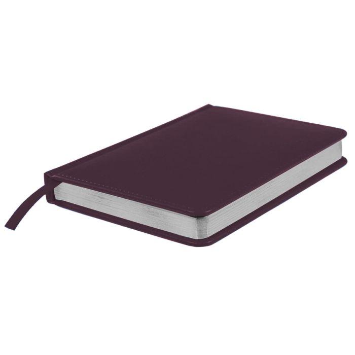 Ежедневник датированный Joy, А5, бордовый, белый блок, серебряный обрез