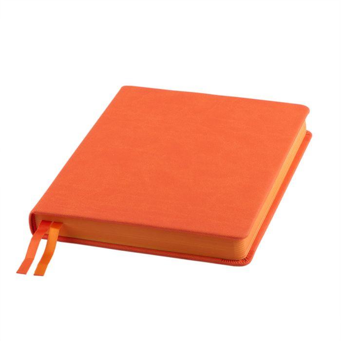"""Ежедневник датированный бренд """"Enote"""", коллекция """"Softie"""", А5, кремовый блок, оранжевый обрез, оранжевый"""