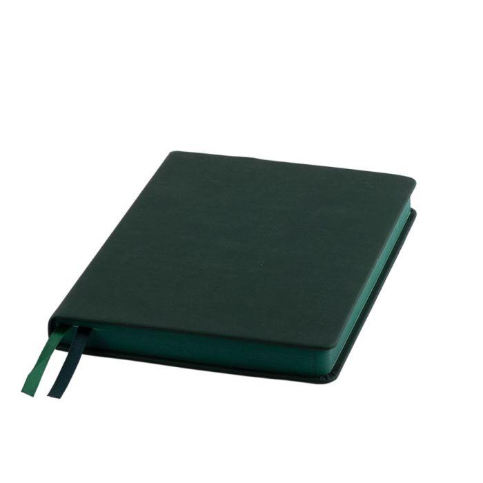"""Ежедневник датированный бренд """"Enote"""", коллекция """"Softie"""", А5, кремовый блок, зелёный обрез, зелёный"""