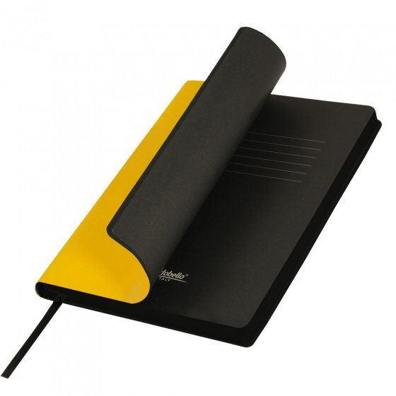 Ежедневник недатированный, Portobello Trend, Latte NEW, формат A5, жёлтый с чёрным