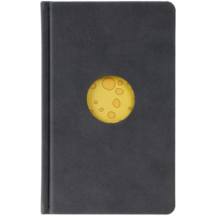 "Ежедневник ""Мышки на Луне"", датированный, размер 10х16 см, серый"