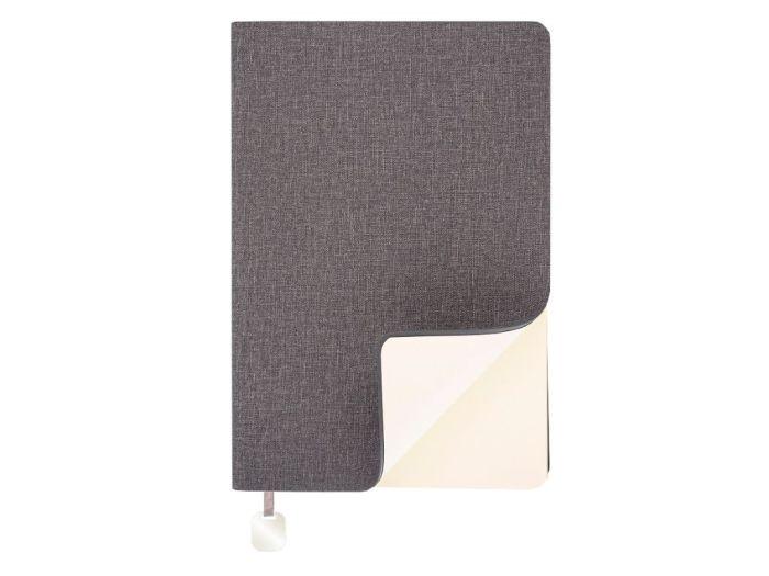 Ежедневник Flexy, датированный, А5, в гибкой обложке Cambric, серый